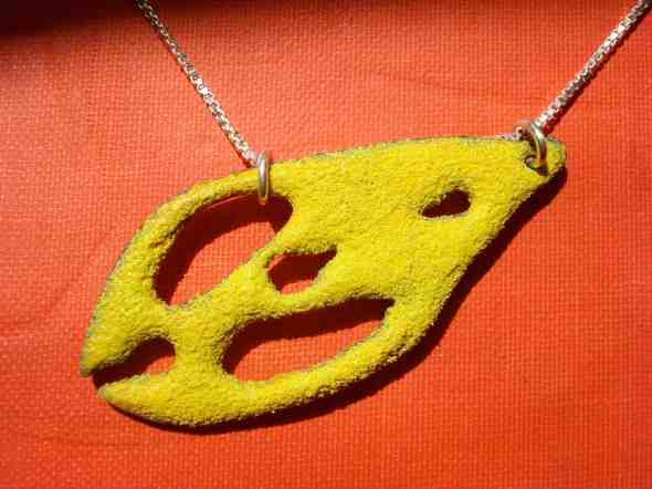 Enameled Yellow Fluke by Peggy Skemp