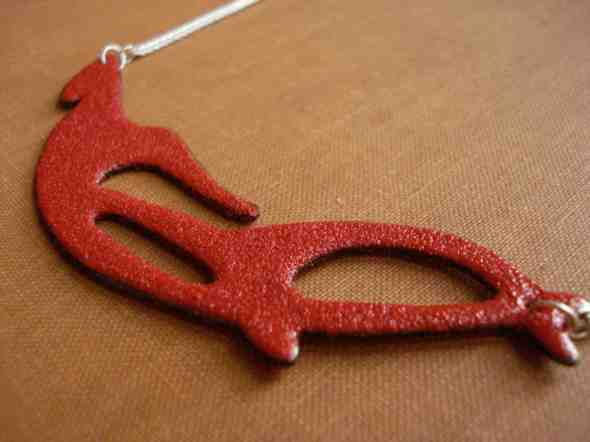 Red Hook and Anchor Necklace by Peggy Skemp 2009