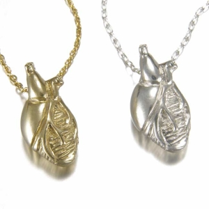 Bronze Small Anatomical Heart