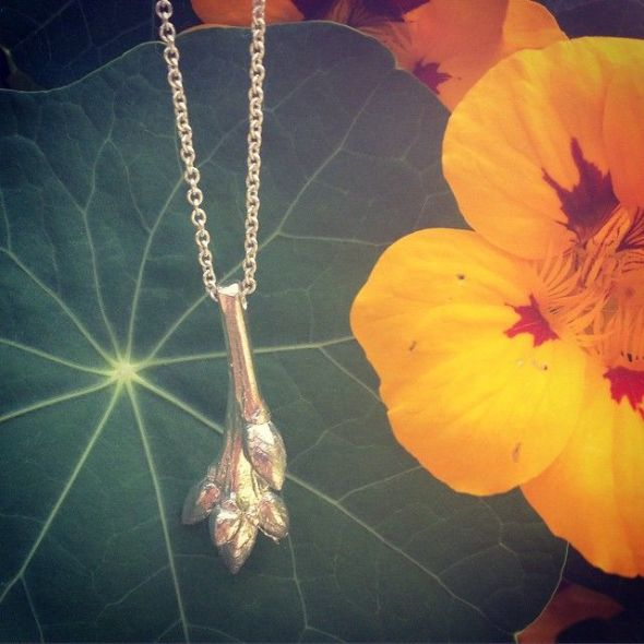 Silver Oak Sapling Necklace
