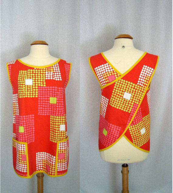 Mod smock apron I purchased on Etsy.